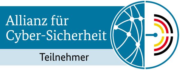 Verweis zur Webpräsenz der Allianz für Cyber-Sicherheit