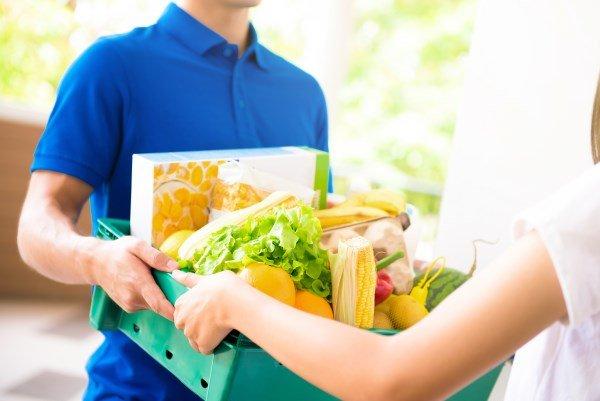 Online-Supermarkt: Lieferung