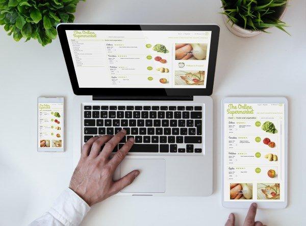 Online-Supermarkt: Bestellung